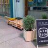 銀天街に休憩スペース「イコトコ」を設置。まちなか空間活用実証実験が行われています