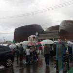 新居浜の太鼓祭りがスタート。今年は市政80周年で15日から、新居浜駅に太鼓台集合
